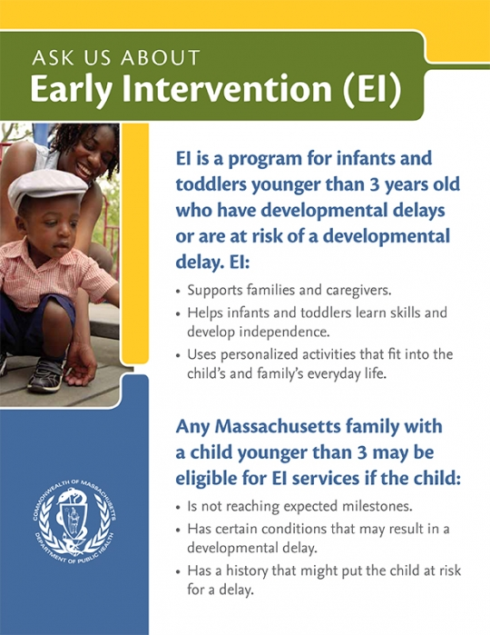 Ask Us About Early Intervention Flyer
