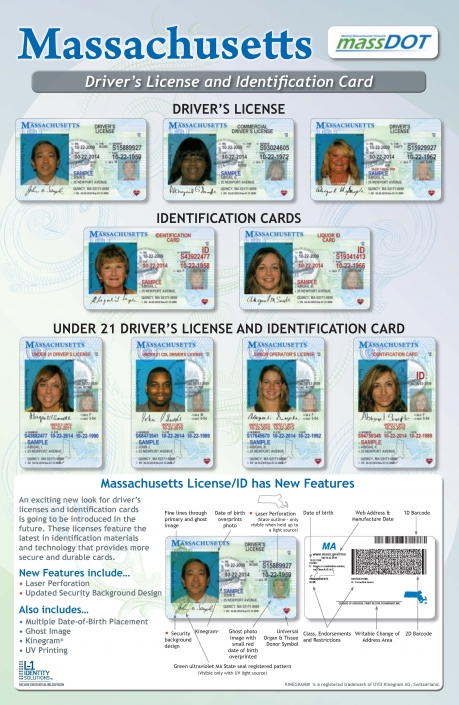 Drivers' Health Licenses Massachusetts Clearinghouse Ids Poster And Promotion
